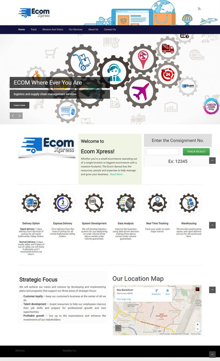 eCom Express – Logistics Company Website Design