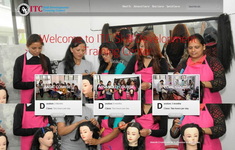 ITC Skill Development Center – Training Institute Website Design