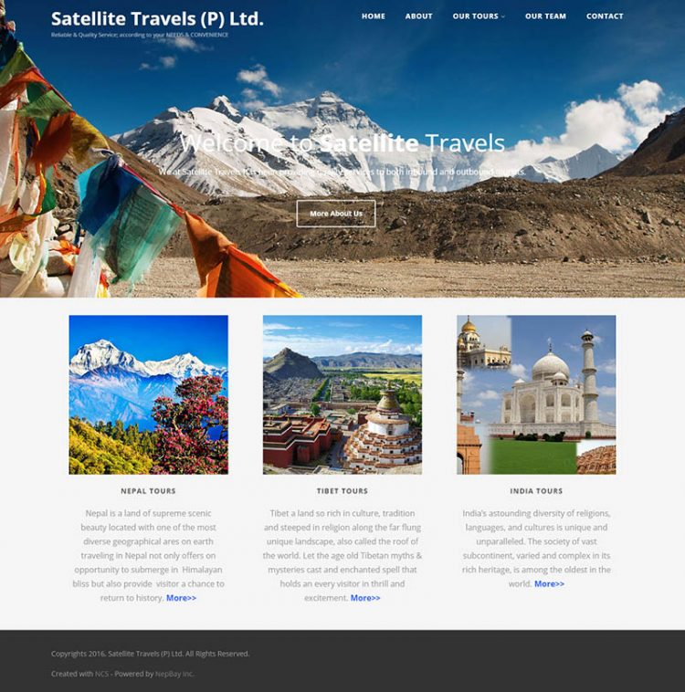 Satellite Travels  – Travel Company Website Design