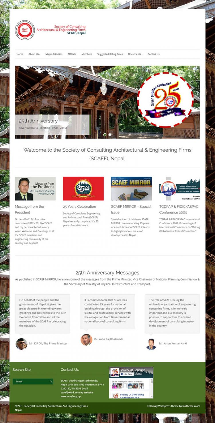 Society of Consulting Architectural Engineering Firms (SCAEF) – Business Association Website Design